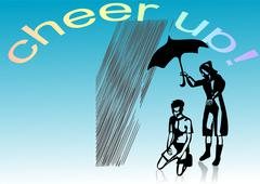cheer up - stock illustration