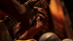 Indian musician playing the sitar Stock Footage