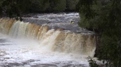 Whitewater Kayak Waterfall Stock Footage