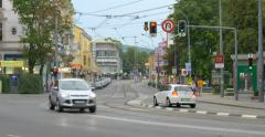 VIENNA, AUSTRIA: Car traffic in the old city center in Vienna, 4K Stock Footage