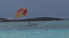 Paragliding Boat Stock Footage