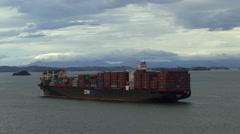 Cargo Boat Panama Stock Footage