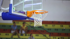 Close up of a basketball dunk - basketball training - stock footage