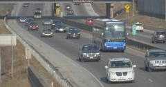 South 35W traffic from Minneapolis Stock Footage