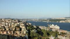 Ultra HD 4K Istanbul city bosphorus turkey Stock Footage