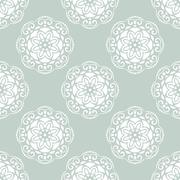 Floral Seamless  Pattern. Orient Abstract Background Stock Illustration