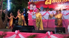 Loi (or Loy) Krathong - Petchaburi, Thailand 12th Nov 2014 - 14 Stock Footage