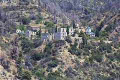 Konstamonitou monastery. Holy Mount Athos. - stock photo