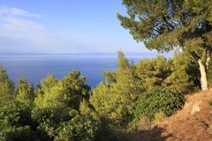 Beautiful Aegean coast. - stock photo