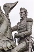 andrew jackson statue lafayette park pennsylvania ave washington dc - stock photo
