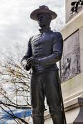 Soldier statue general william tecumseh sherman civil war memorial pennsylvan Stock Photos