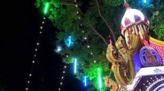 Loi (or Loy) Krathong - Petchaburi, Thailand 12th Nov 2014 Stock Footage