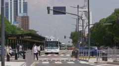 9 de Julio Avenue, Buenos Aires Stock Footage