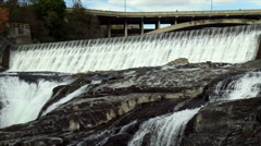 Spokane Falls in Washington Stock Footage
