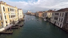 Venice. aerial survey. Stock Footage