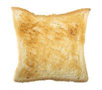 bread slice lightly toasted - stock photo