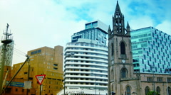 HD  ,LIVERPOOL, ENGLAND,Church of Our Lady,zoom out Stock Footage