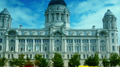 HD  ,zoom out,Port Authority Building at Liverpool Pier head Stock Footage
