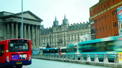 St George's Hall in St George's place in Liverpool city centre, Stock Footage
