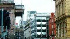 Office Buildings On Liverpool, tilt Stock Footage
