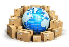 Worldwide shipping concept - stock illustration