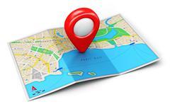 GPS navigation concept Stock Illustration