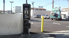 Landscape with Pay Phone and Painted Van Los Angeles, CA Stock Footage