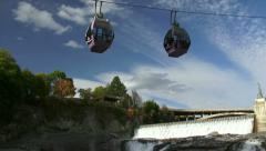 Skyride Above Spokane Falls Stock Footage
