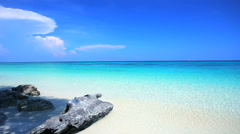 Tropical sand beach andaman sea southern of Thailand. - stock footage