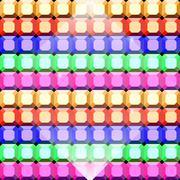 Colorful gem stone square cut pattern background Stock Illustration