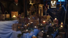 Christmas market in rottach-egern, bavaria, germany Stock Footage
