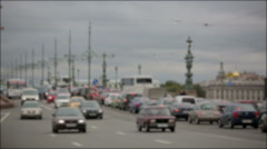 Movement of cars in the center of St. Petersburg. Time lapse Stock Footage
