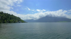 Switzerland's landscape with lake and mountains, 4k UHD Stock Footage