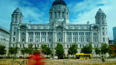 4k  ,tilt,Port Authority Building at Liverpool Pier head - stock footage