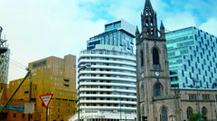 4k ,LIVERPOOL, ENGLAND:Church of Our Lady,tilt,pan Stock Footage