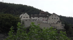 Liechtenstein Vaduz Castle on mountain 4K 128 Stock Footage