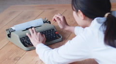 Woongbi typing Stock Footage