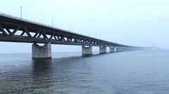 The Bridge  Oresund Sea Bridge Stock Footage