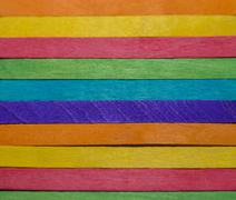 Colorful wooden stripe on horizontal Stock Photos