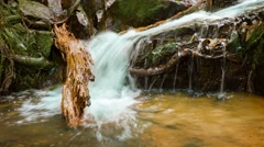 Thai waterfall at oblique angle Stock Footage