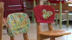 Kindergarden chairs Stock Footage