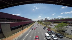 Traffic on the Famous Radial Leste Avenue in Sao Paulo, Brazil. - stock footage