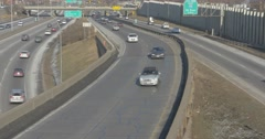 Minneapolis Southbound freeway traffic Stock Footage