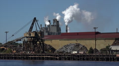Steel mill and paper mill, georgetown, sc, usa Stock Footage