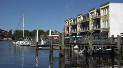 Georgetown public dock at the boardwalk, sc, usa Stock Footage