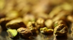Dry fruits Roasted pistachios Stock Footage