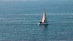 Classic yacht during a competition in Mediterranean Sea Stock Footage