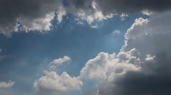 Time lapse of rainy clouds with blue sky Stock Footage