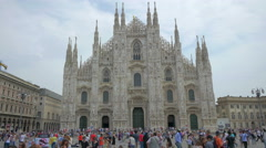 Milan Cathedral (Piazza del Duomo), Italy, 4k, UHD Stock Footage