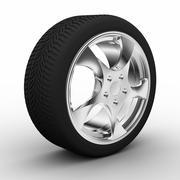 A wheel with aluminum rim Stock Illustration